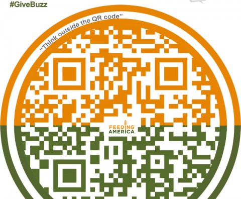 Scan this QR Code with the BestBuzz app and donate to Feeding America in this unique social good program.