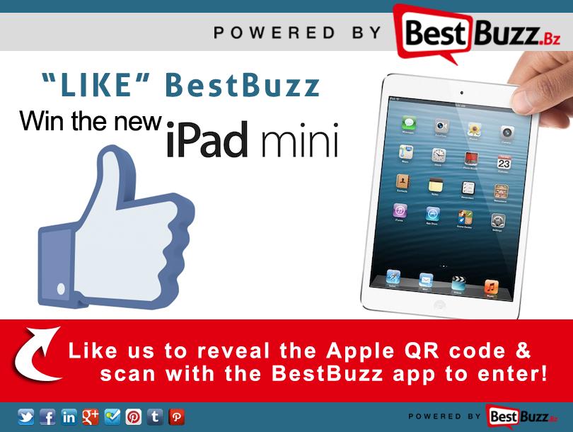 iPadMini BestBuzz QR code Giveaway