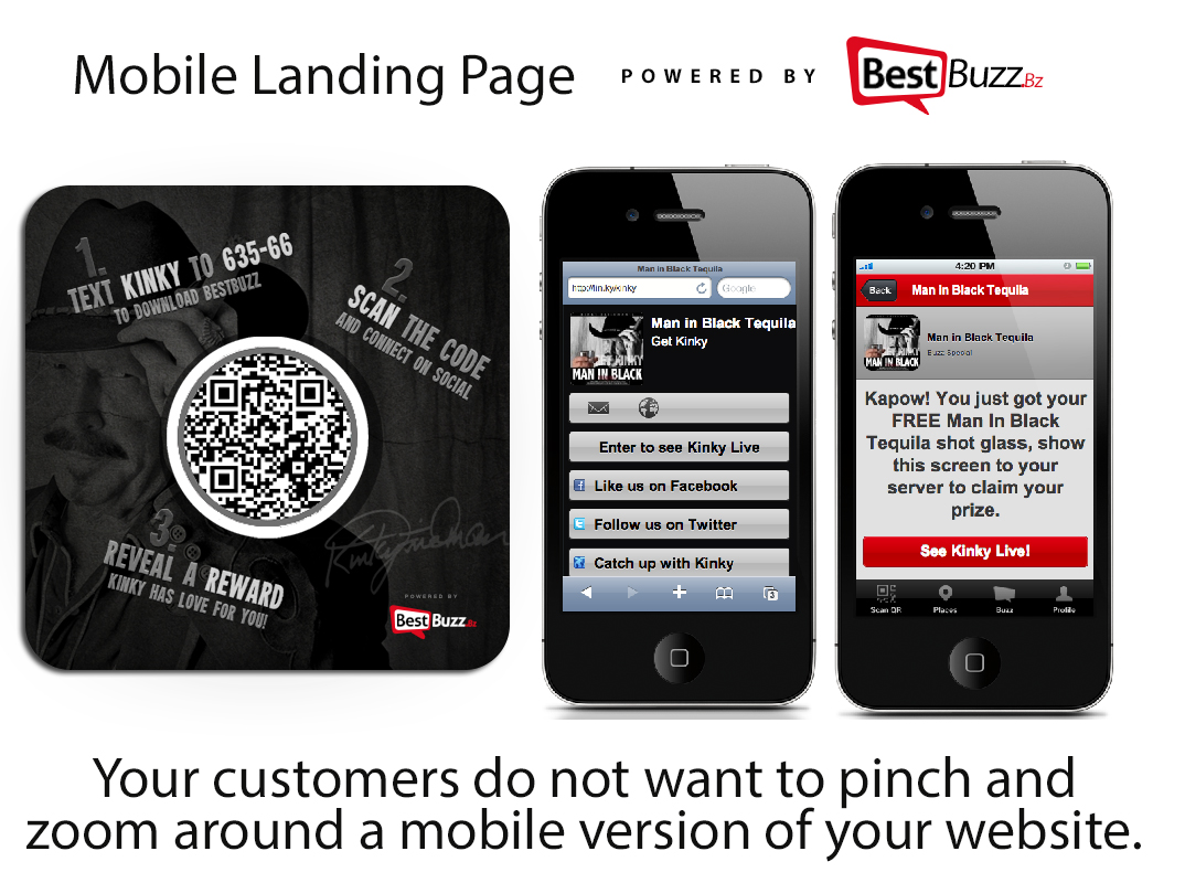 Mobile Landing Page Solutions by BestBuzz