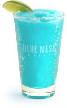 Blue margarita from Blue Mesa