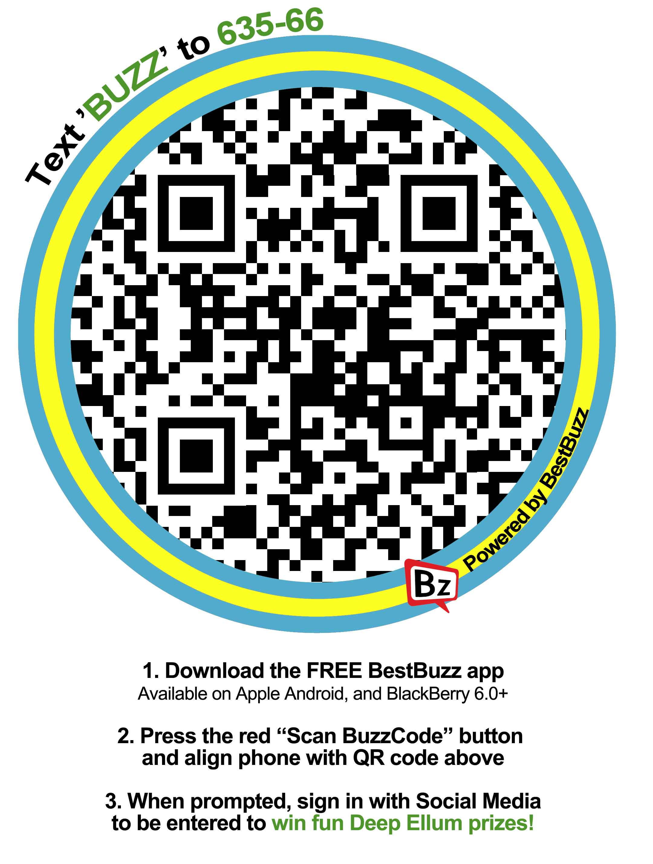 Scan this QR code and win at the Deep Ellum Arts Festival