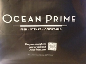 Ocean Prime uses QR Codes in their restaurant marketing strategy