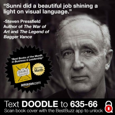 """Sunni did a beautiful job shining a light on visual language"" -Steven Pressfield #DoodleRevolution"
