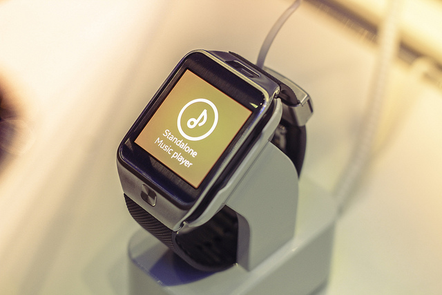 A Samsung Galaxy Gear 2 wearable devie a brand-new way to stay connected.  Keeps you updated with glance notifications, so you can keep up with calls, texts and emails.